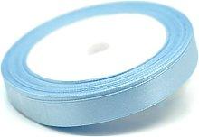 GCS Light Blue Satin Ribbon 12mm - 25 Meters Roll