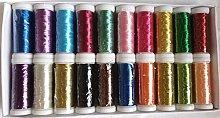 GCS LONDON 20 Metallic Embroidery Machine Thread