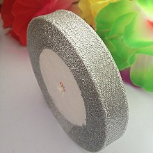 GCS Organza Metallic Silver Ribbon 20mm Wide. 22