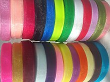 GCS ORGANZA RIBBON 12 MM, 25 Rolls New, 25 Diff.
