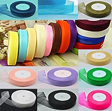 GCS ORGANZA RIBBON 20MM; Set of 20 Rolls New, 20