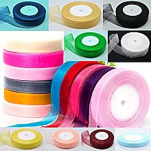 "GCS ORGANZA RIBBON 25MM / 1"" inch, Set of 20"