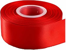 GCS Red Satin Ribbon - 50mm Wide - Full 25 Yards