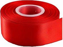 GCS Red Satin Ribbon - 50mm Wide - Full 25 Yards