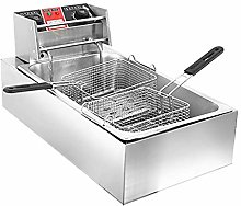 GCZZYMX Deep Fat Fryer Commercial Double-Cylinder