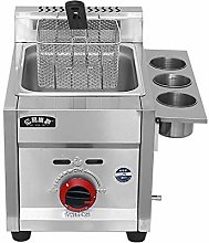 GCZZYMX Deep Fryer Commercial 6L/12L Stainless
