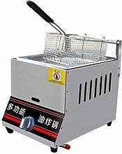 GCZZYMX Deep Fryer Commercial Gas 6L/12L Potato