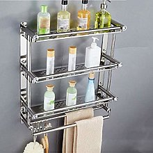 GDFEH Bathroom Shelf 3 Tier Shower Room Storage