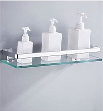 GDFEH Bathroom Tempered Glass Shelf Bathroom