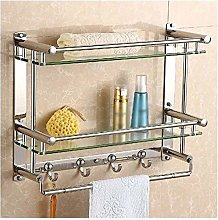 GDFEH Glass Bathroom Shelf 7mm Glass Shelf