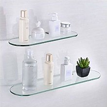 GDFEH Glass Shelf Bathroom Shower Shelf 2 Tier