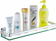 GDFEH Glass Shelf Bathroom Shower Shelf