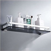 GDFEH Glass Shelf Bathroom Shower Shelf Space