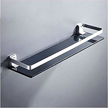 GDFEH Glass Shelf Space Aluminum Bathroom Shelf