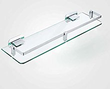 GDFEH Glass Shelf Space Aluminum Glass Shelf