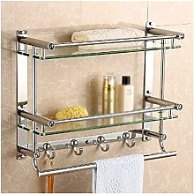 GDFEH Shower Shelf Kitchen Bathroom Bathroom Glass
