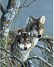 Gdlkss 5D DIY Diamond Painting Kit for Adults Wolf