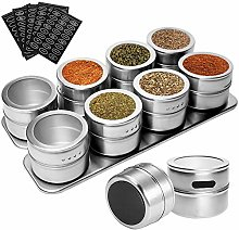 GDORUN 2Pack 8Pieces Magnetic Spice Tins, Spice