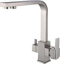 GDYJP 3 Way Water Filter Tap, Kitchen Taps, 360