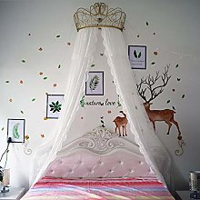 GE&YOBBY Princess Bed Canopy,white Lace Chiffon