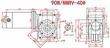 Gear Motor DC24V 90W High Torsion 5D90GN-RV40 for