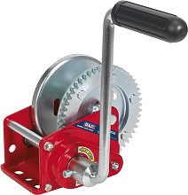 Geared Hand Winch with Brake 540kg Capacity -