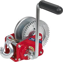 Geared Hand Winch with Brake & Cable 540kg