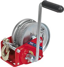 Geared Hand Winch with Brake & Cable 900kg