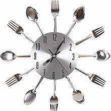 Gearmax® Cutlery Kitchen Wall Clock Fork & Spoon
