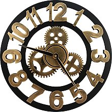 Gears Wall Clock - Large 3D Retro Rustic Country