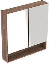 Geberit Selnova Square Hickory Double Door Mirror