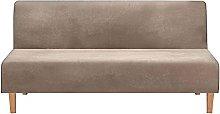 GEBIN Armless Sofa Bed Covers, Velvet Stretch