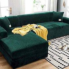 GEBIN Stretch Sofa Cover, L-Shaped Velvet Couch