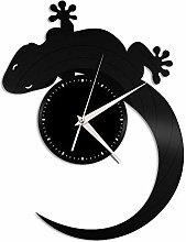 Gecko vinyl wall clock, vinyl record home