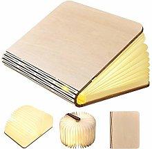 GEEDIAR Large LED Book Lamp Folding Wooden Mood