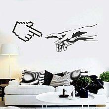 Geek Computer Wall Decal Art Funny Creative Hand