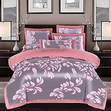 geek cook 4-Piece Bed Set, Silk Satin Jacquard