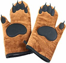 Geekbuzz Bear Oven Gloves Mitts Kitchen Silicone