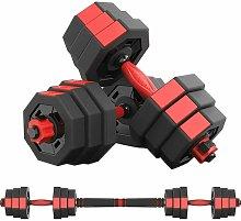 GEEMAX Dumbbell Barbell Set 30KG Adjustable Weight