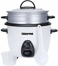 Geepas 1L Rice Cooker with Steamer | 400W |