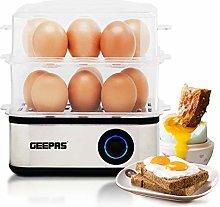 Geepas 2 in 1 Egg Boiler and Poacher – Capacity