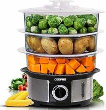 Geepas Food Steamer 12L Capacity | 3 Tiers BPA
