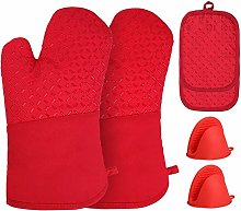 GeeRic Silicone Oven Glove, 6PCS Heat Resistant