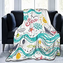 GEHIYPA Comfortable fine flannel blanket,A Ship