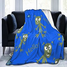 GEHIYPA Comfortable fine flannel blanket,Aliens On
