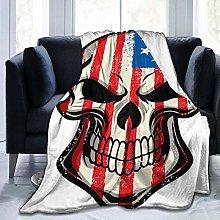 GEHIYPA Comfortable fine flannel blanket,America