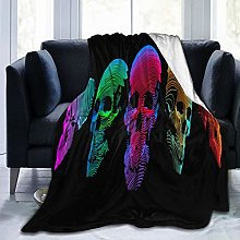 GEHIYPA Comfortable fine flannel blanket,Art