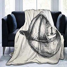 GEHIYPA Comfortable fine flannel blanket,Sketch