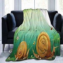 GEHIYPA Comfortable fine flannel blanket,Spring