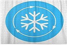 GEHIYPA Jigsaw Puzzles 1000 Pieces,Blue Cool Air